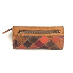 Lucky Brand Patchwork Leather Zip-Around Wallet